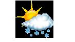 Nuageux avec éclaircies et averses de neige isolées